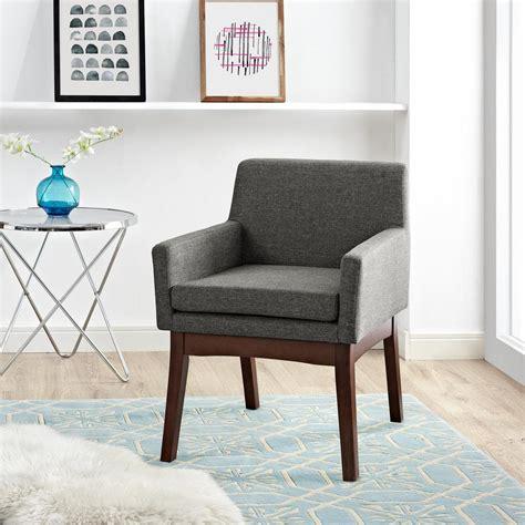 dorel brook gray mid century accent chair fa7515