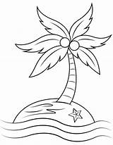 Island Coloring Deserted Printable sketch template