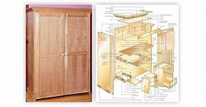 Computer Armoire Plans Styles