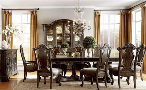 gables double pedestal extendable dining room set  art