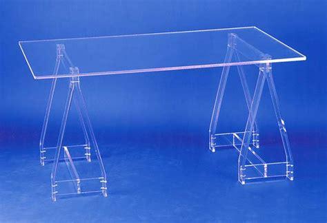bureau plexiglas bureau sur tréteaux
