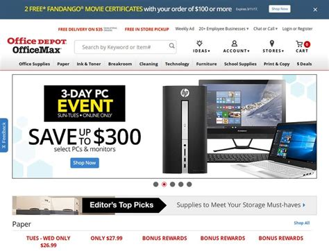Office Depot Coupons For Electronics by Office Depot Coupons Discount Promo Coupon Codes