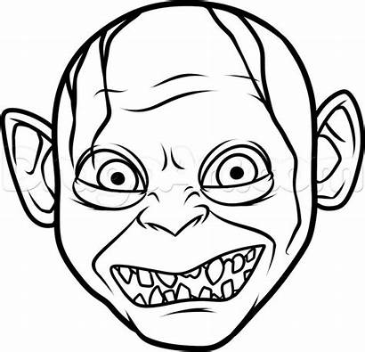 Draw Gollum Step Easy Drawing Characters Drawings