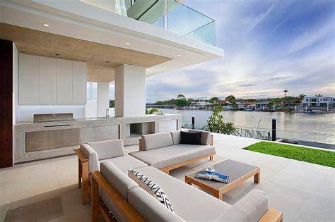 hauteur ilot central cuisine maison moderne australienne pour une famille moderne