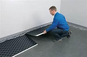 Fußbodenheizung Estrich Aufbau : noppensystem eine von zwei verlegearten einer fu bodenheizung ~ Michelbontemps.com Haus und Dekorationen