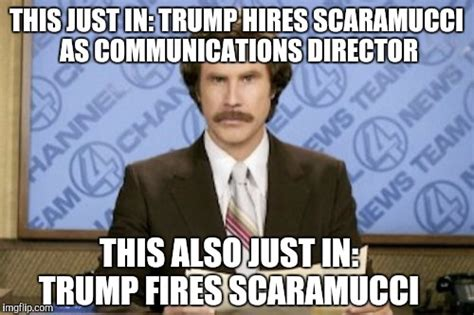 Scaramucci Memes - it s like living through a bad episode of the apprentice imgflip