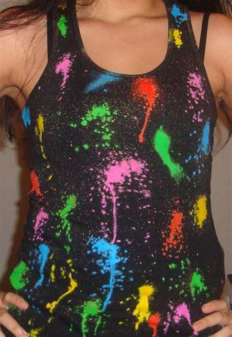diy splattered paint  shirt   paint   shirt