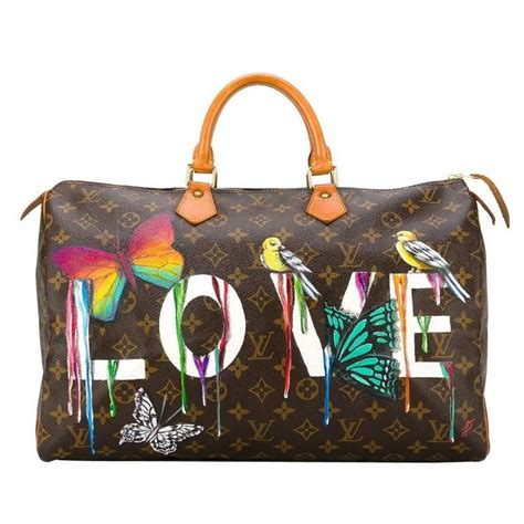 customised louis vuitton vintage dripping love bag  stdibs