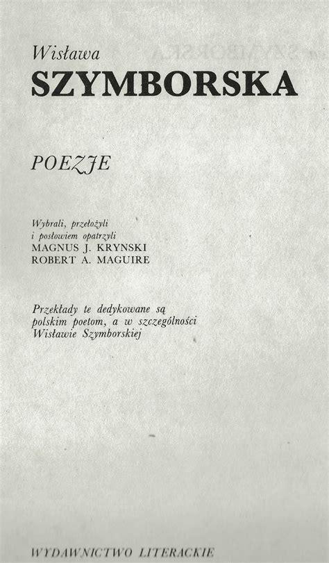 corfu blues and global views wislawa szymborska poems in