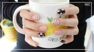 Self nail art easy and cute flower