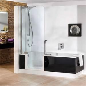 baignoire douche avec porte pas cher maison design With porte de douche coulissante avec lavabo salle de bain pas cher