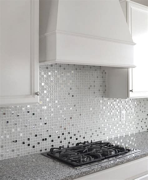 white glass tile backsplash kitchen modern white glass metal kitchen backsplash tile 1770