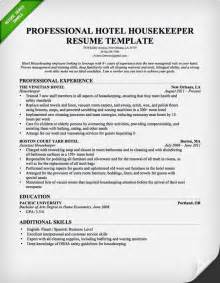 housekeeping resume berathen