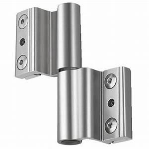 Paumelles pour menuiserie aluminium a clamer pour porte for Porte de garage coulissante jumelé avec porte paliere blindee