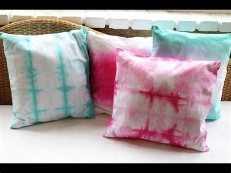 ombre  tie dyed pillows diy decor youtube