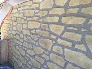 Comment Faire Enduit Imitation Pierre : great cheap gorgeous mur fausse pierre luenduit pierre par ~ Melissatoandfro.com Idées de Décoration