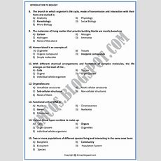 4 Mcq's Chapter # 1 Introduction To Biology
