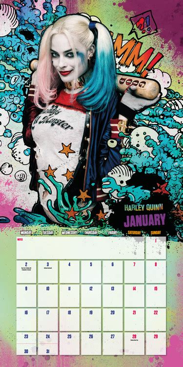 suicide squad calendars ukposterseuroposters
