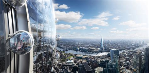 foster partners tulip tower set  city  london