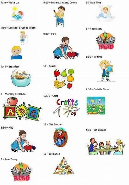 Schedule Daily Toddler Routine Preschool Schedules Clipart