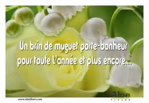cascade bouquet 1er mai message un brin de muguet porte bonheur pour