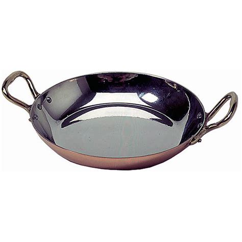 mauviel copper egg frying pan  handles tin lined