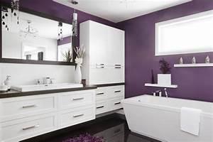 Salle De Bain Contemporaine : f minine et romantique cette salle de bains contemporaine ~ Dailycaller-alerts.com Idées de Décoration