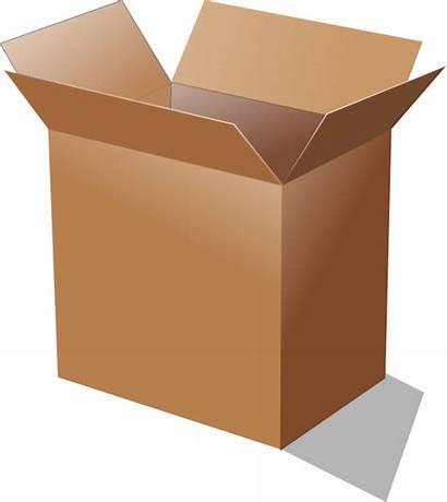 Box Cardboard Open Clipart Clip Vector Clker