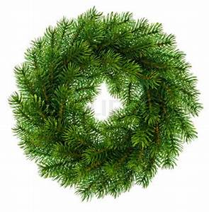 Traditional green christmas decoration evergreen wreath