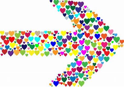 Arrow Colorful Colourful Clipart Hearts Transparent Webstockreview
