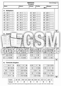 Kleines Einmaleins Test - Einmaleins Tests - Lernstandserhebung - Tests