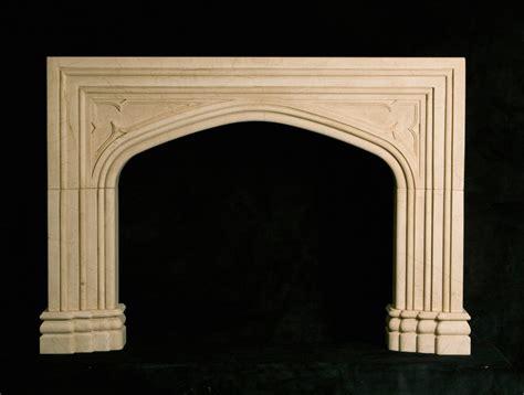 custom english gothic stone fireplace mantels bt