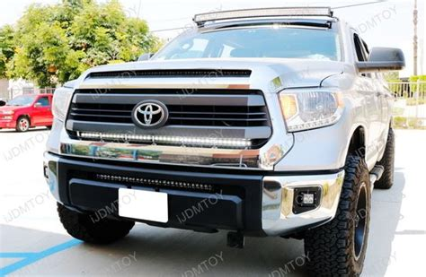 tundra light bar 1 lower bumper grill mount for 2014 up toyota tundra