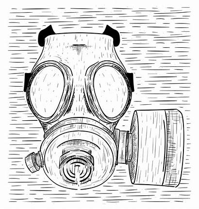 Mask Gas Vector Hand Drawn Illustration Vecteezy