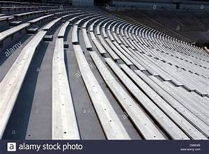 General View Of Rows Of Empty Bleacher Seating At Scott