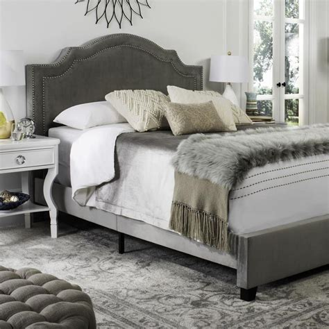 Safavieh Bed by Safavieh Theron Gray Bed Frame At Lowes