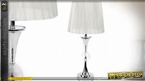 Lampe Salon Design : lampe de salon design avec pied en m tal chrom et abat ~ Melissatoandfro.com Idées de Décoration