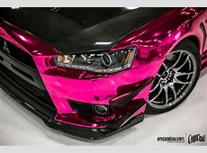 Nikki Shine's Pink Chrome Evo X PHENOMENALVINYL