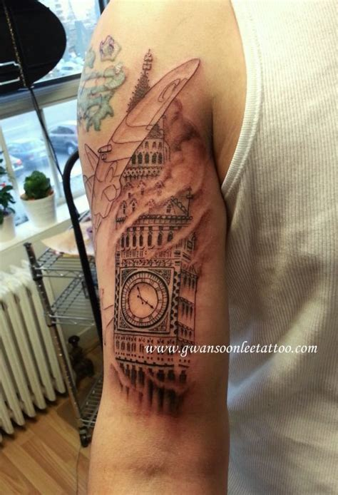 big ben clock tattoo  arm gwan  lee tattoos