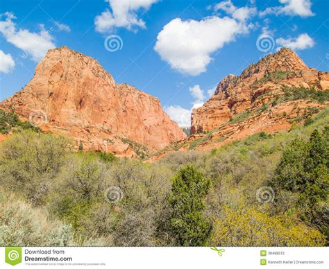 Kolob Canyons Area Of Zion Stock Photography