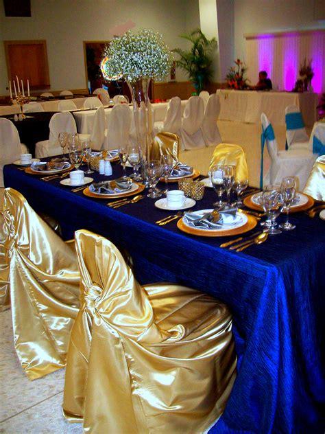 royal blue gold not center pieces decorations blue gold center pieces and