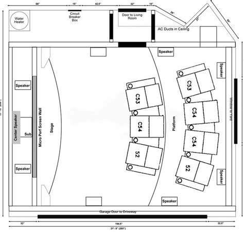 Home Design Dimensions by Home Theater Room Seating Dimensions Home Theater