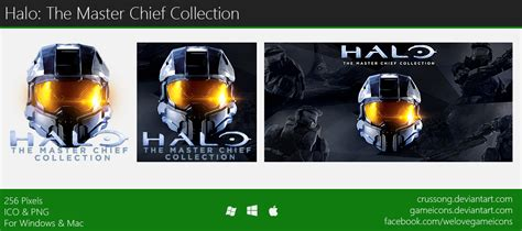 halo the master chief collection icon by crussong on deviantart
