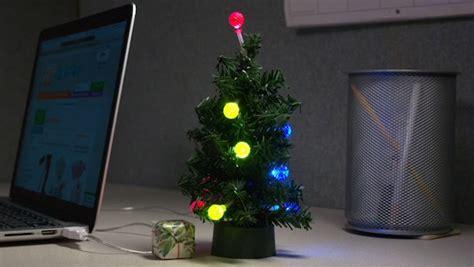 usb mini led tree tiny tinsel tree powered by usb