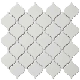 Royal White Glossy Arabesque Lantern Mosaic ? Sognare Tile