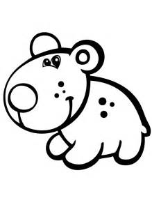 Preschool Bear Coloring Pages