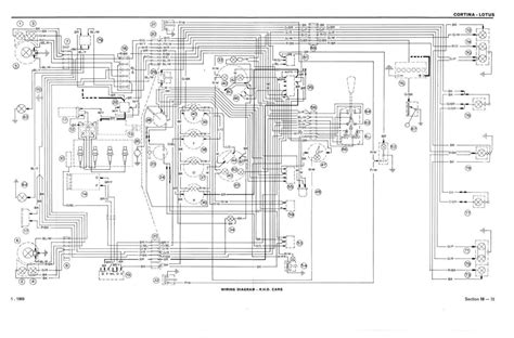 a3 fold out wiring diagrams mk2 lotus cortina free uk