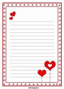 Love Letter Paper Template Valentine39s Day Pinterest