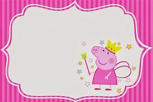 Imprimibles Gratuitos e Invitaciones de Peppa Pig Hada Ideas y material gratis para fiestas y