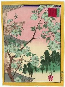 Utagawa Hiroshige II: White Cherry Blossoms at Yanaka ...